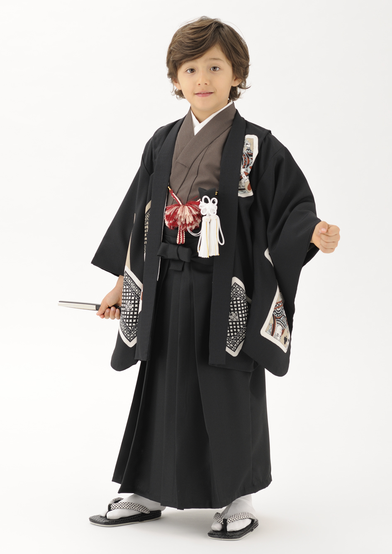 トランプ柄のレトロな着物5歳レンタル通販
